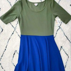 Green and Blue Nicole Dress